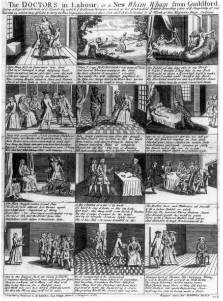 La historia de Mary Toft.