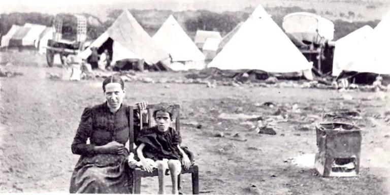 Fotografía de los prisioneros Boer.