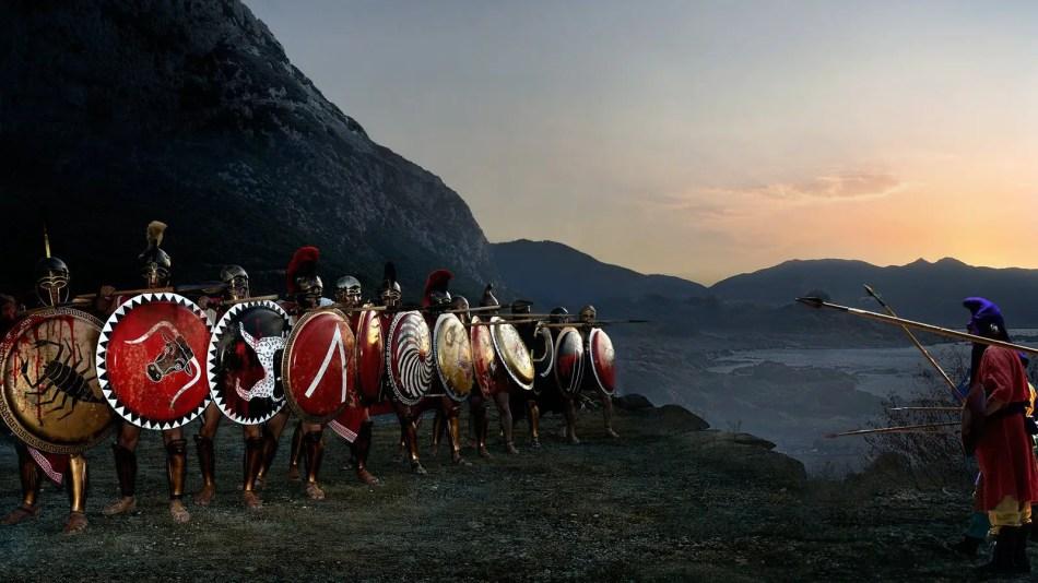 Reenactores griegos.
