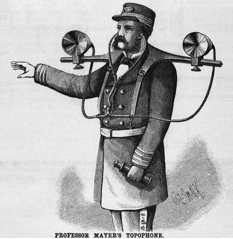 Ilustración de un topófono.