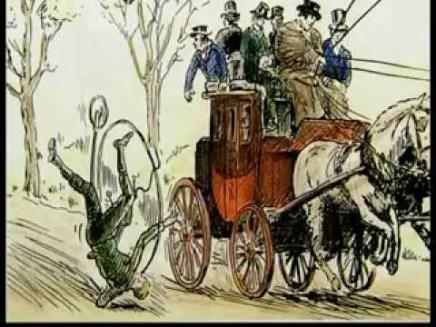 Ilustración de un accidente en un biciclo.