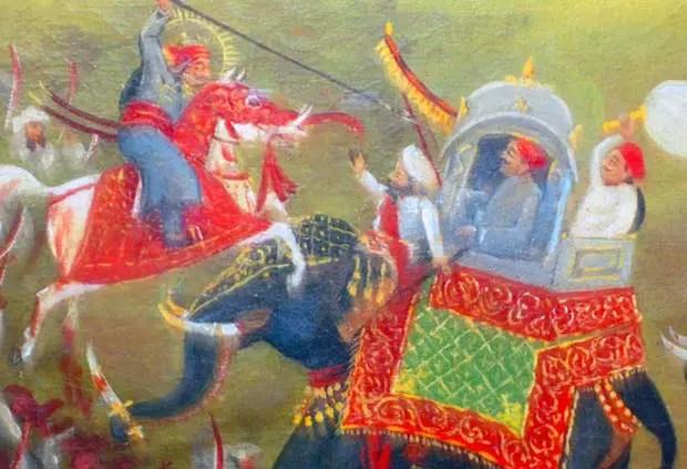 Ilustración de un caballo elefante.