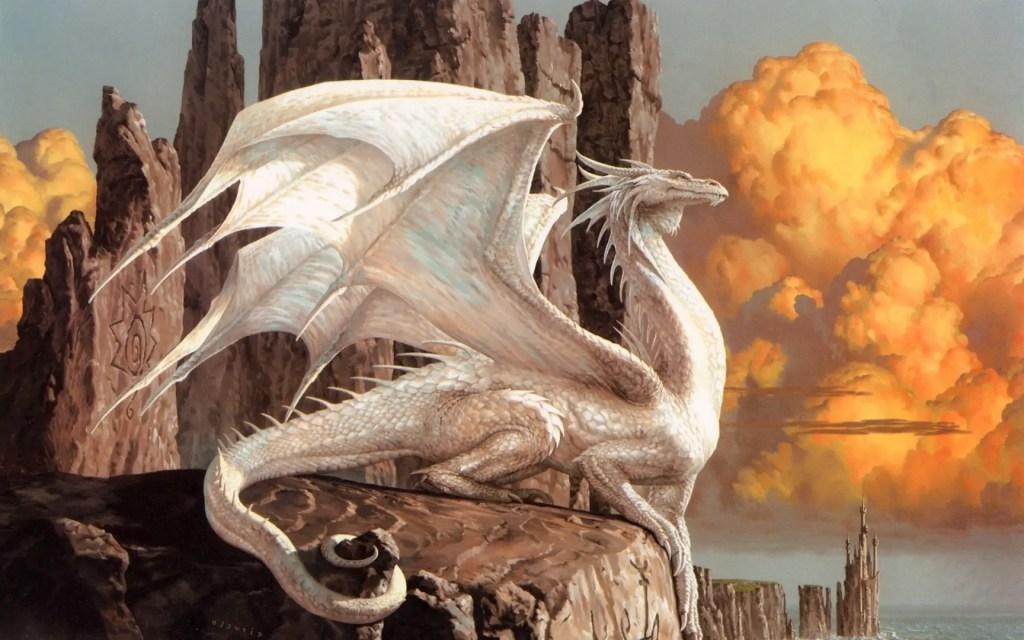 Dragones del ilustrador Ciruelo.