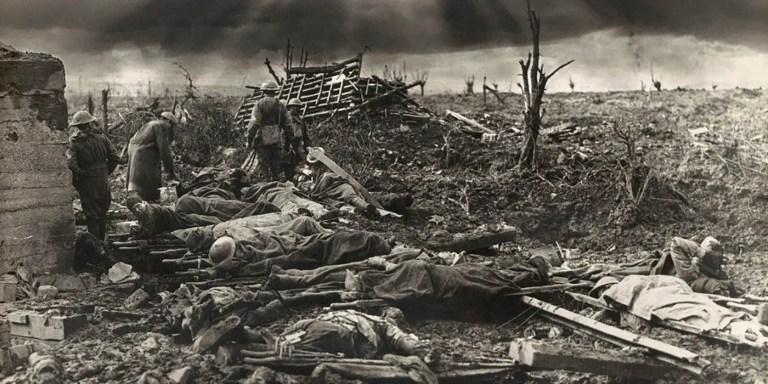 El antes y después de la batalla de Passendale, Primera Guerra Mundial