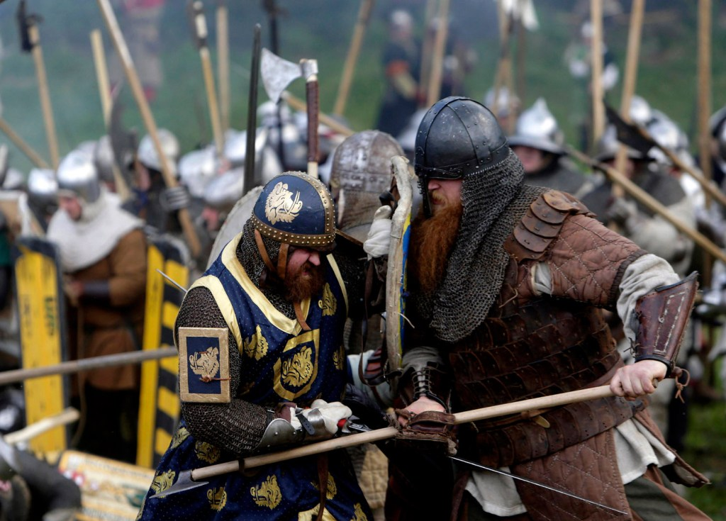 Recreación de una batalla medieval.
