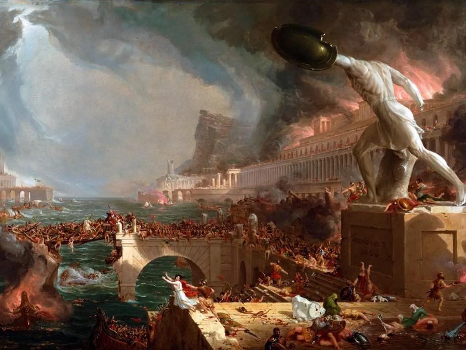 Pintura del saqueo de Roma.