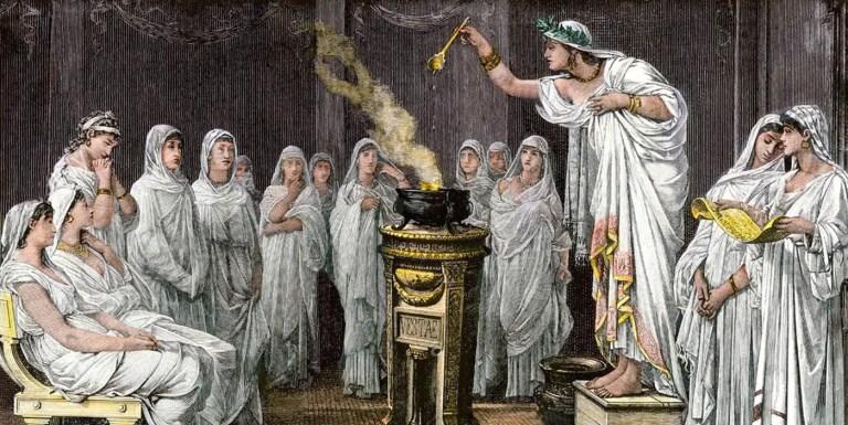 El fin de las vírgenes vestales y la caída del Imperio romano
