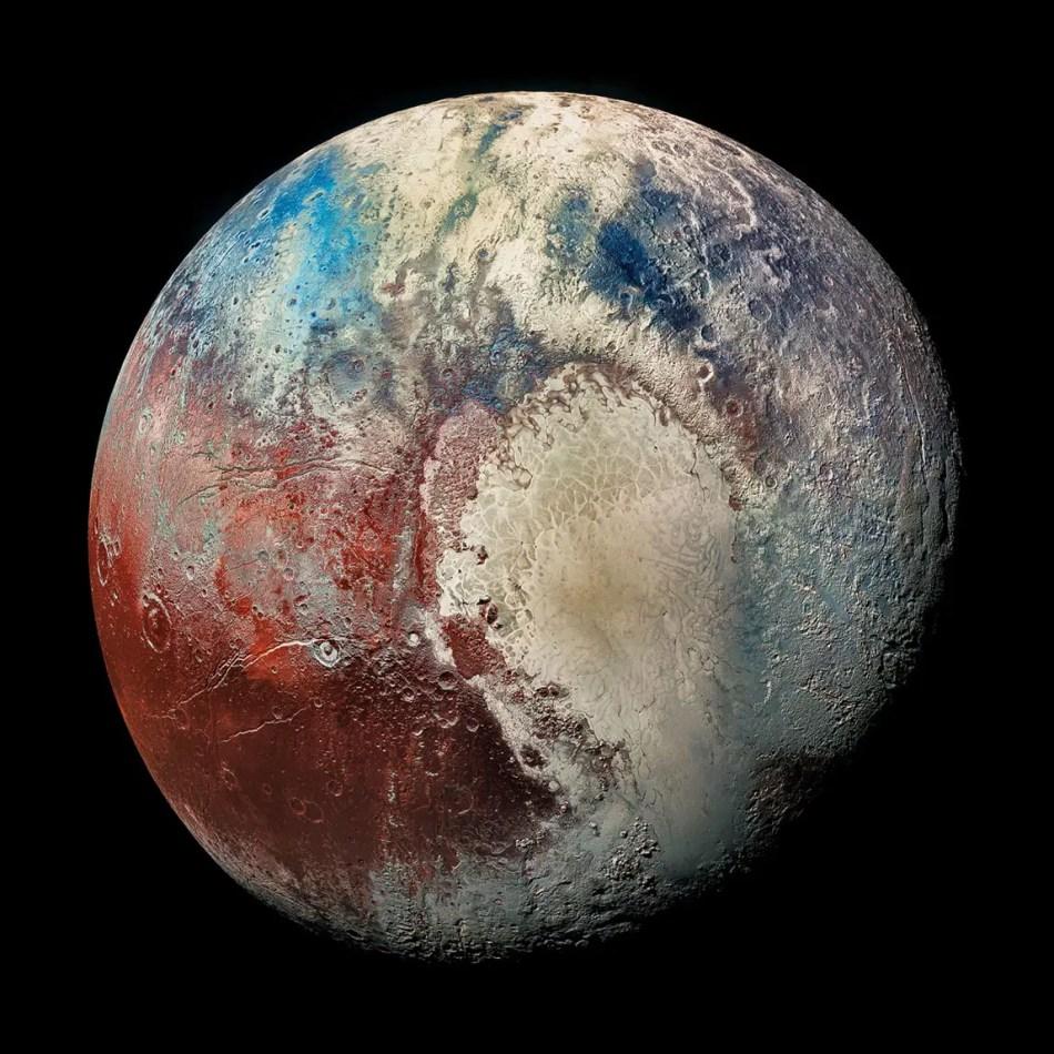Imagen del planeta Plutón.