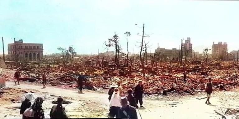 Los estremecedores videos de Hiroshima, Nagazaki y Dresde en color