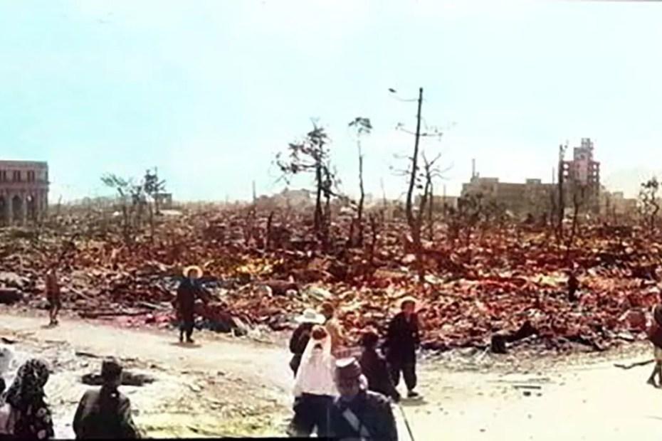 Fotografía de Hiroshima a color.