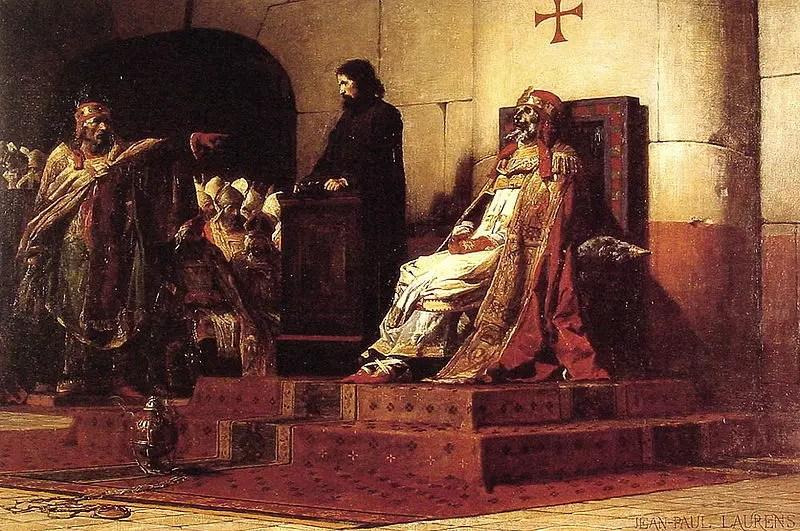Pintura del juicio al cadáver del papa Formoso.