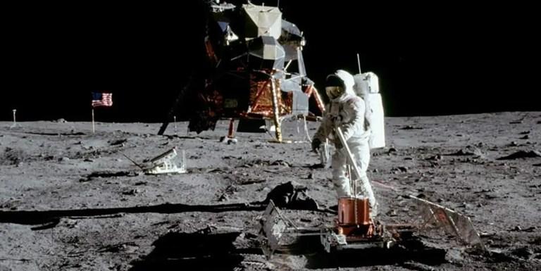 Fotografía de la misión Apolo 11.