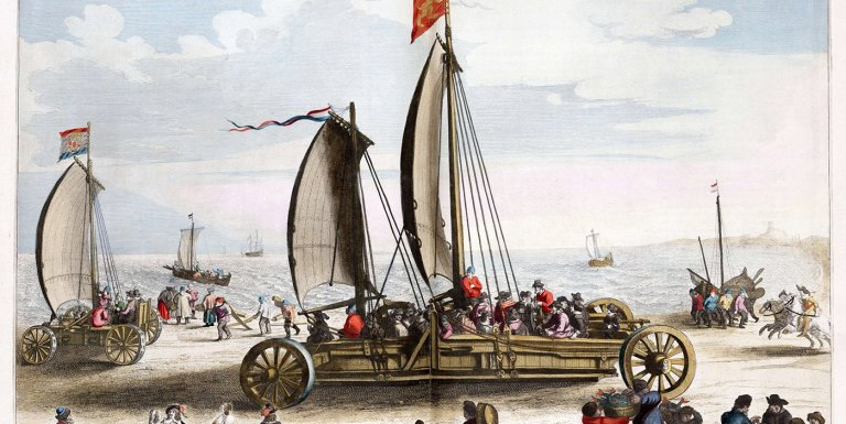 Los veleros de tierra que Simón Stevin construyó para Mauricio I en el siglo XVI