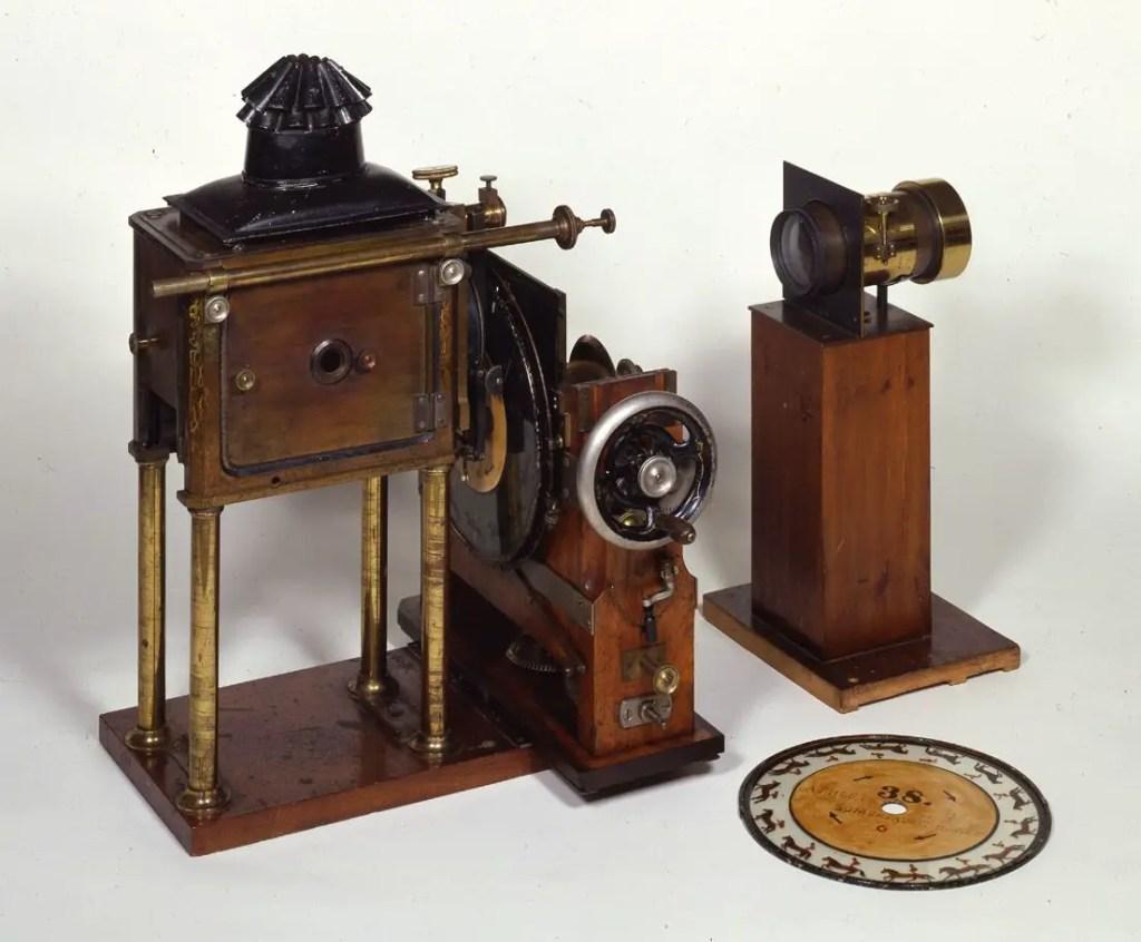 Fotografía de un zoopraxiscopio.