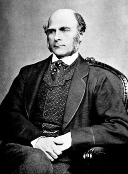 Retrato de Francis Galton.
