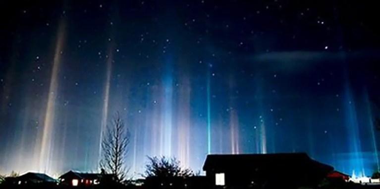 Los pilares de luz de Sigulda, uno de los más bellos fenómenos naturales