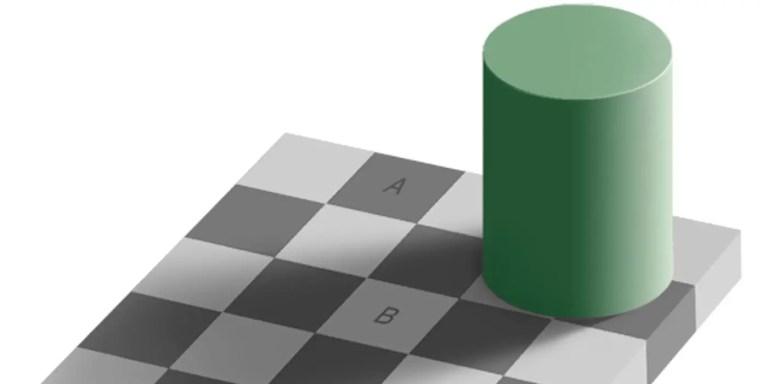 La ilusión óptica de Adelson, una de las mejores ilusiones ópticas