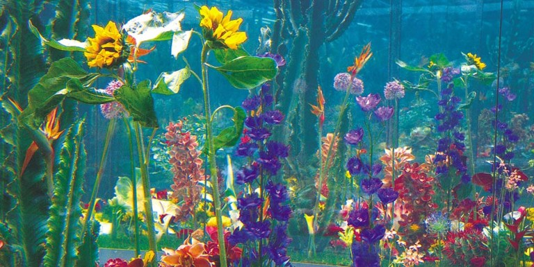 El jardín inmortal de Marc Quinn. Un jardín de flores perpetuas