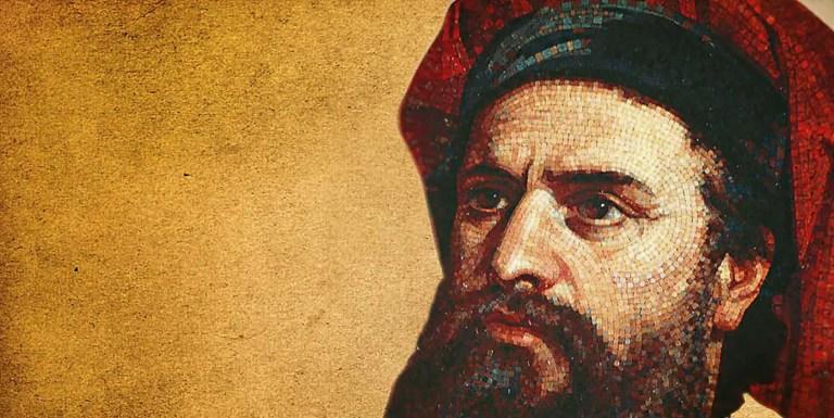 Mosaico del explorador italiano del siglo XIII Marco Polo.