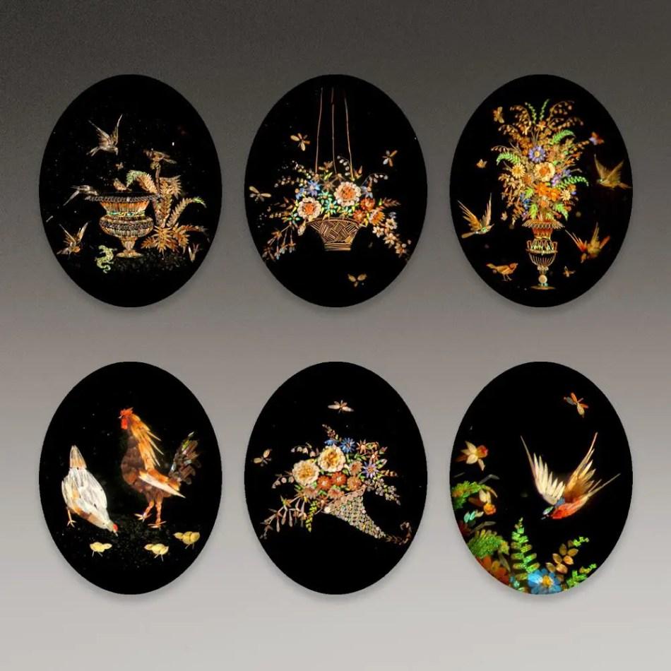 Varios mosaicos microscópicos realizados por Henry Dalton.