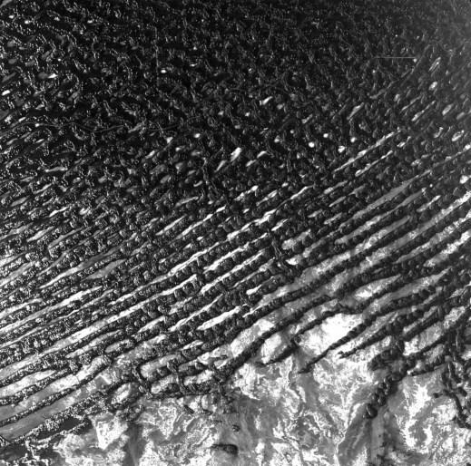 Fotografía de la superficie congelada de Rub'al-Khali en Arabia Saudita.