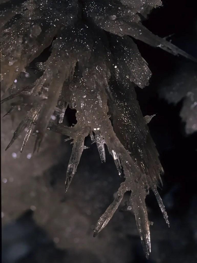 Formación de cristales.