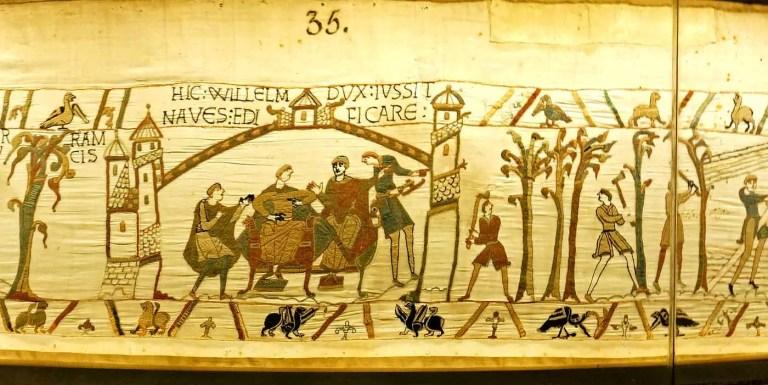 Fragmento número 35 del tapiz de Bayeux.