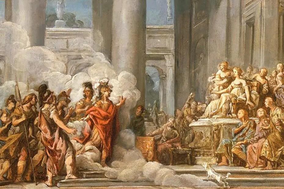 Pintura sobre La Eneida de Virgilio.