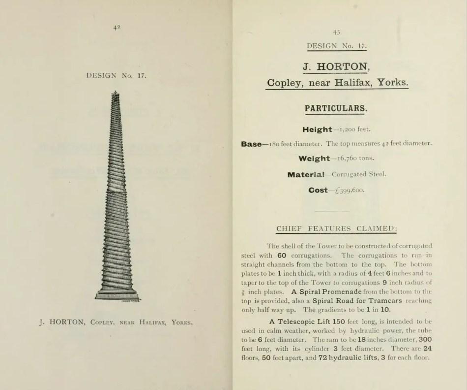Esta torre candidata para la Torre Eiffel londinense presentaba un diseño de espira muy común en la India.