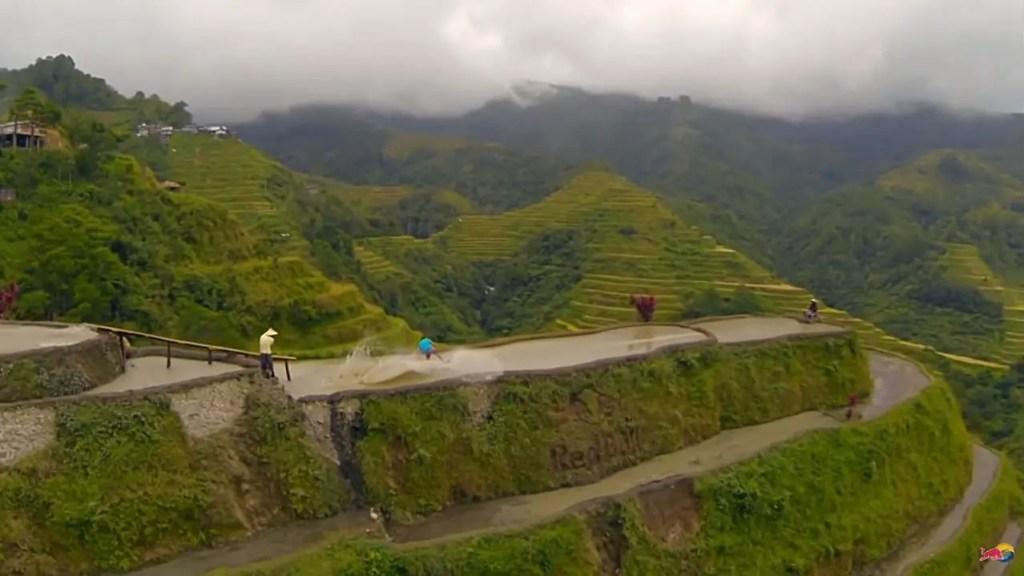 Detalle de la terraza de arroz en Banaue.