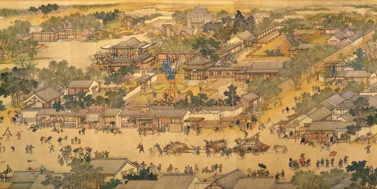 A lo largo del río durante el Festival Qingming, el manuscrito de 52,8m