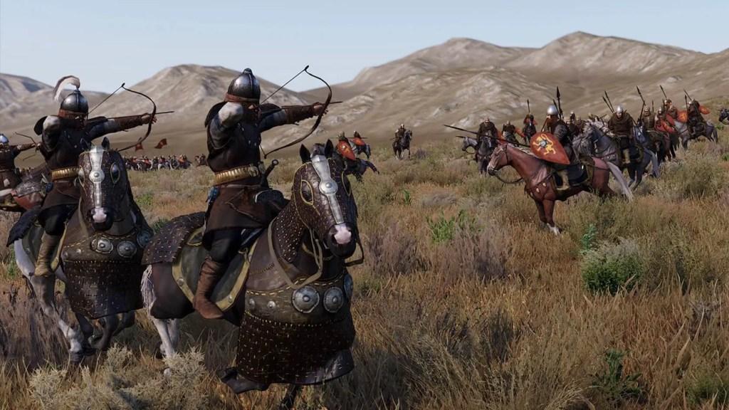 Combate a caballo.