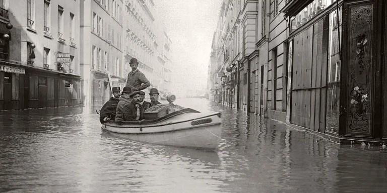 La gran inundación de París de 1910, cuando el rio Sena devoró a París