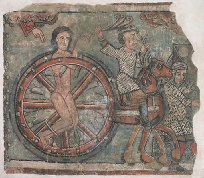 Ilustración de la rueda bizantina