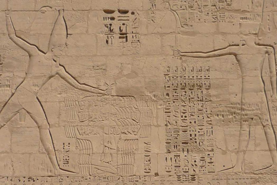 Relieve sobre la vida de Ramses III en Medinet Habu.