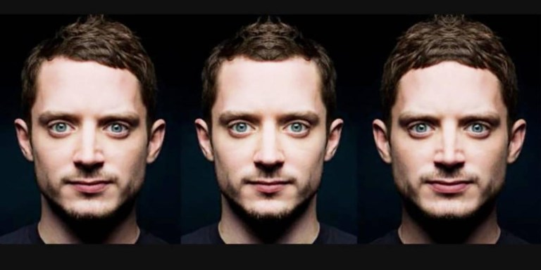Elijah Wood efecto de simetría facial en el cual determinamos su lado dominante.