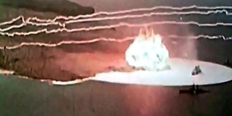Sailor Hat, el experimento que simuló una bomba nuclear