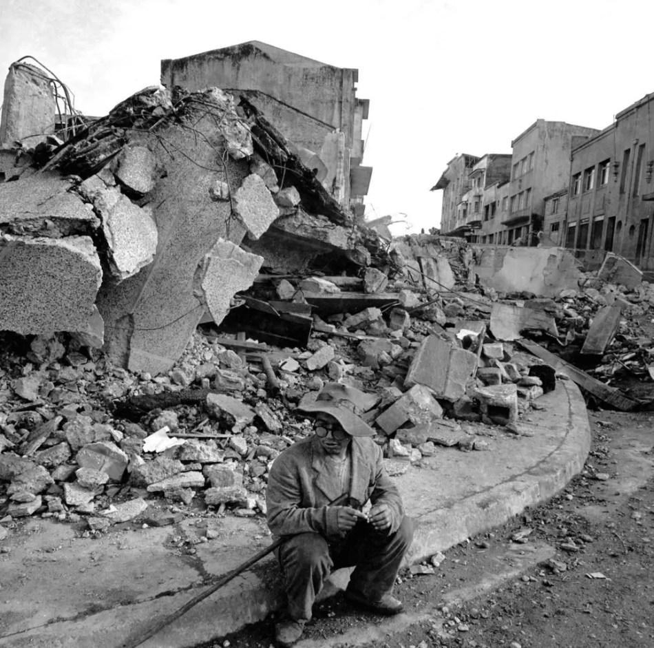 Ciudad de Valdivia destruida tras el terremoto más fuerte del que se tiene registro.