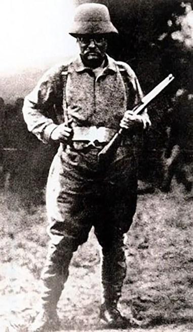 Roosevelt durante uno de sus safaris.
