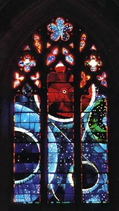 La ventana lunar en la Catedral de Washington.