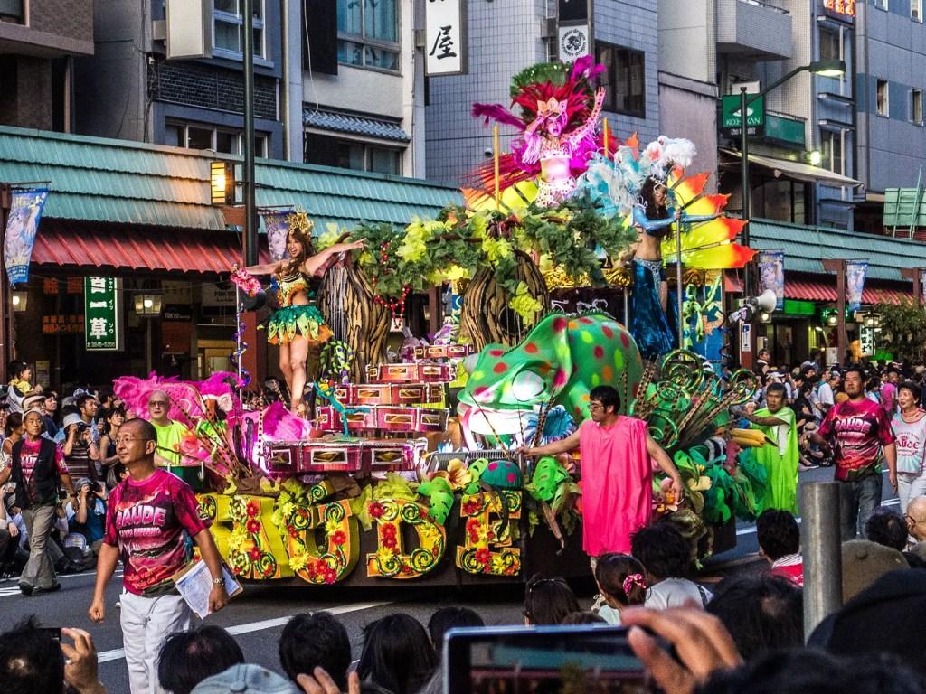 Carroza del saude, como se suele denominar al carnaval japonés.