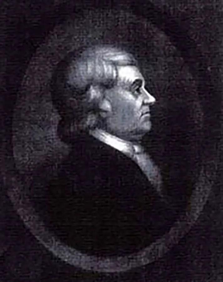 Retrato de perfil de John Murray Spear.