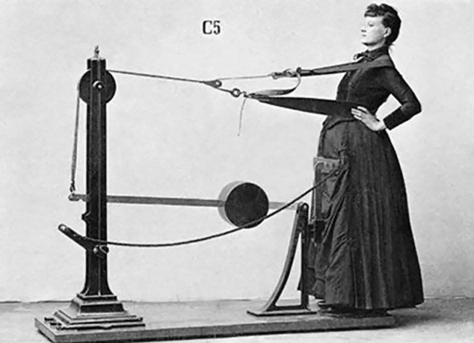 Una de las varias máquinas del Dr. Zander para ejercitar la espalda.