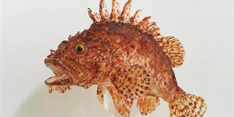 Un pez Amezaiku.