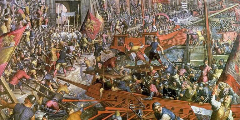 Ilustración de una de las tantas guerras renacentistas en las cuales participó la República de Venecia.