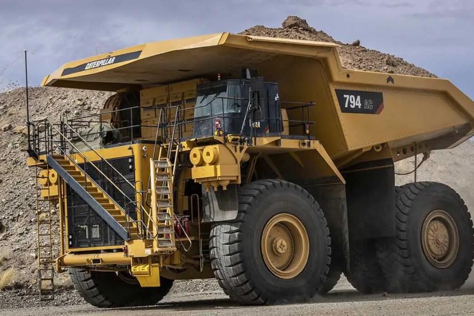 Camión minero de transporte de minerales.