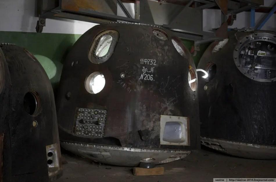 Cápsula de una nave Soyuz TM-32.