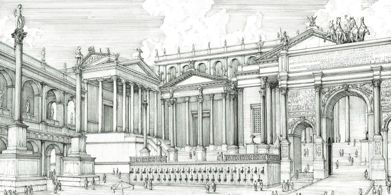 El Foro Romano, uno de los puntos más característicos de la antigua Roma.