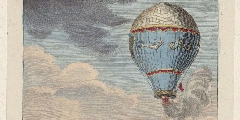 Los hermanos Montgolfier y el primer vuelo de la historia.