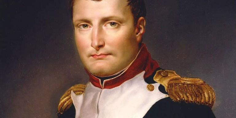 Retrato de Napoleón Bonaparte.